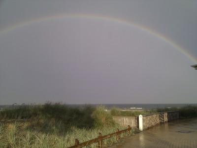 Ostsee mit Regenbogen