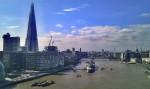 Blick von der Towerbridge in Richtung London Eye
